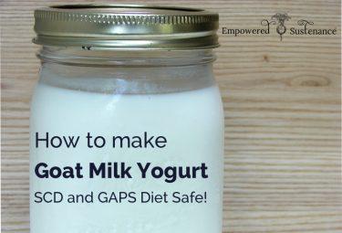 Goat milk yogurt recipe, suitable for SCD and GAPS diet