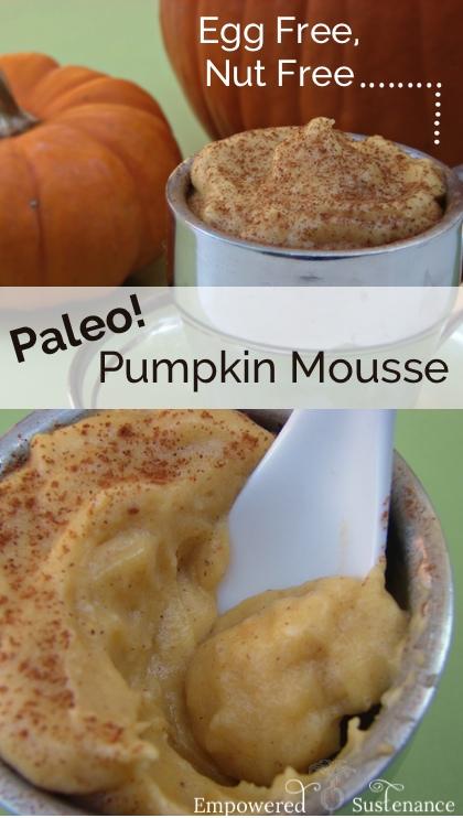 Paleo pumpkin mousse (egg free, nut free)