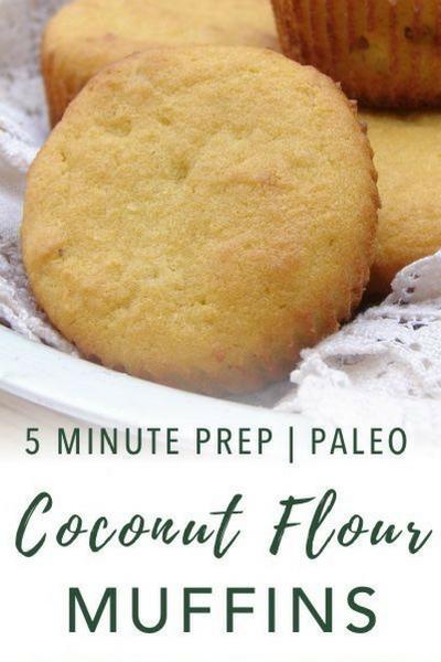 image of paleo coconut flour muffins