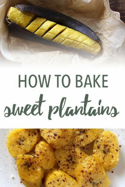 image of baked plantains