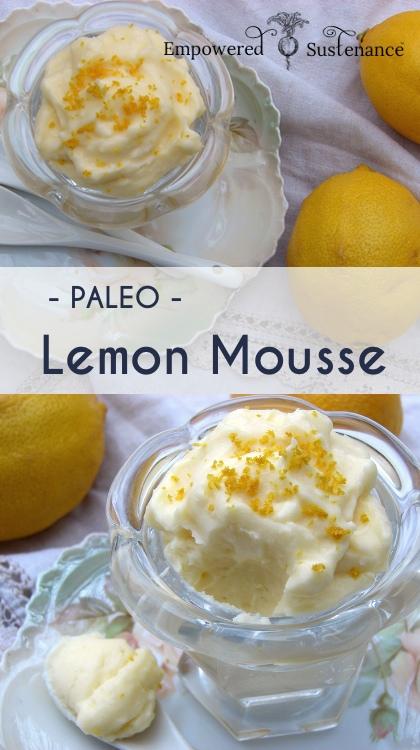 Easy paleo lemon mousse (honey-sweetened, nut and dairy free)