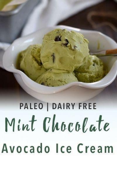 image of paleo mint chocolate ice cream