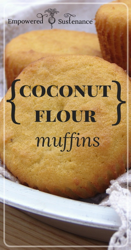Light and fluffy coconut flour muffins,