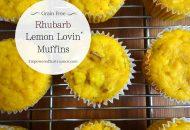 Paleo Rhubarb Lemon Muffins {Coconut Flour}