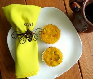Grain free rhubarb lemon muffins!