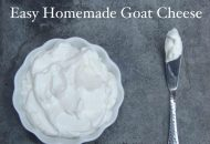 Easy Homemade Goat Cheese