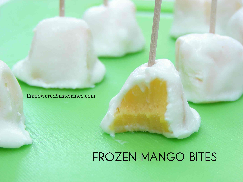 Frozen Mango Lassi Bites - Empowered Sustenance