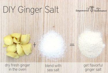 How to make an easy DIY ginger salt