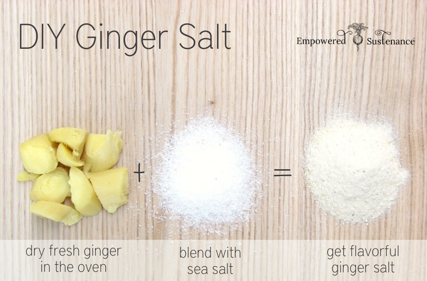 How to make an easy DIY ginger salt
