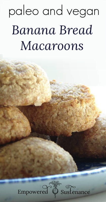 image of banana bread macaroons