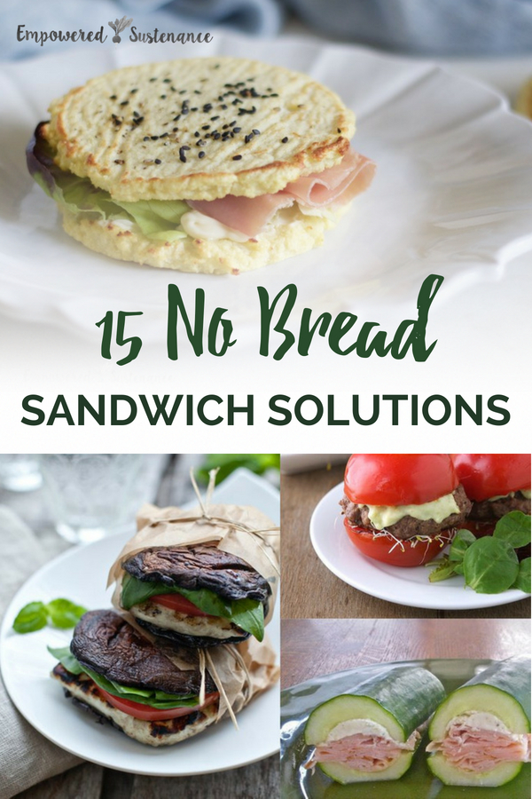 Need some paleo sandwich ideas? No problem! Try these 15 easy No Bread Sandwich options. These sandwich ideas are gluten-free, grain-free, refined sugar free, and dairy free to reduce inflammation and improve wellbeing. #healthy #glutenfree #paleodiet #paleorecipe #paleosnack #paleodessert #primal #whole30