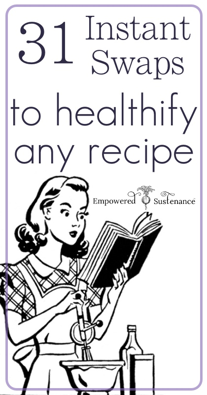31 instant swaps to healthify ANY recipe - great reference!