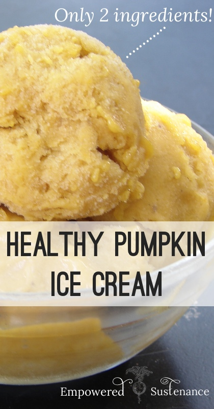 two ingredient pumpkin ice cream