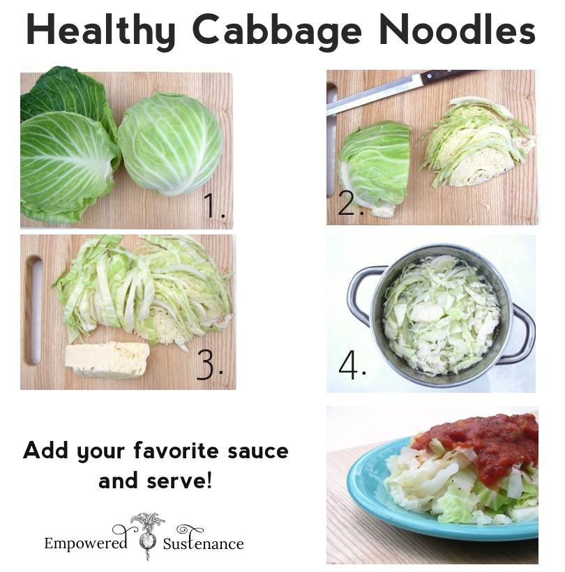 How to make healthy cabbage noodles, just add your favorite sauce