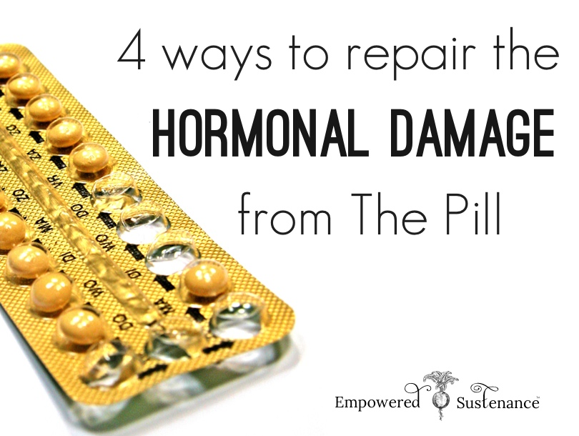 how to repair the hormonal damage from The Pill. A MUST READ for any woman who has taken hormonal birth control!