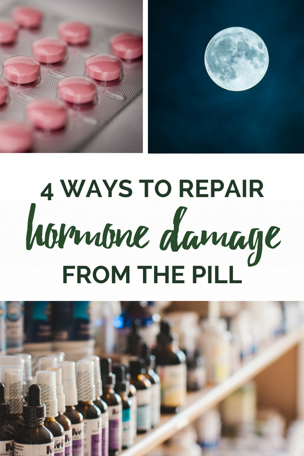 The Pill causes a cascade of hormone imbalances that continue even after you stop taking it. Here's how to repair the damage from birth control side effects. #healthy #naturallifestyle #healthyhome #hormones #hormonebalance