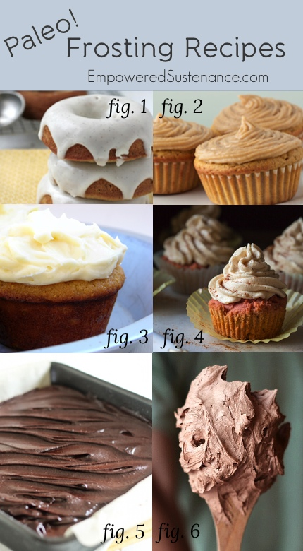 Paleo frosting recipes, plus a recipe for Coconut Flour Cupcakes to match with any of them