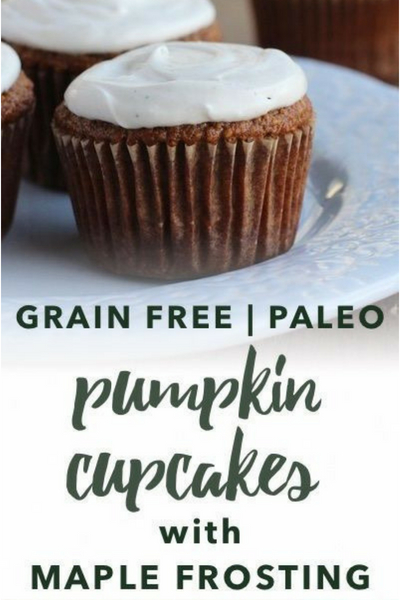 image of paleo pumpkin cupcakes