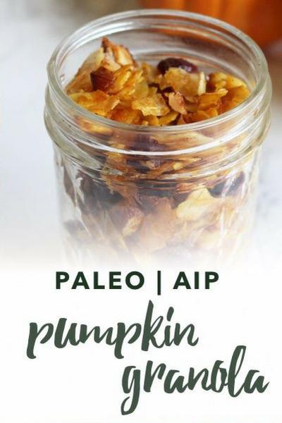 image of paleo pumpkin granola