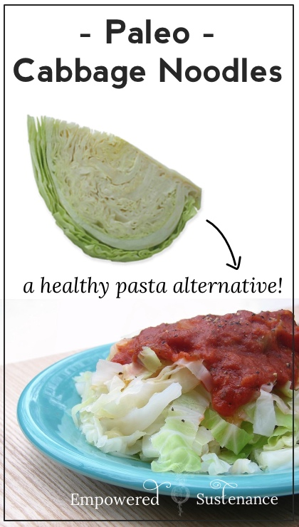 How to make grain free cabbage noodles, a healthy alternative to pasta