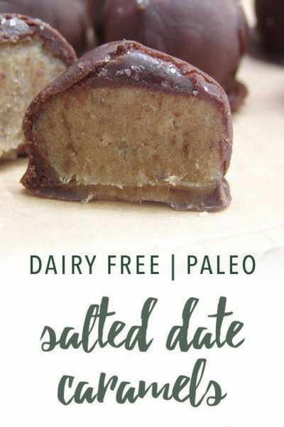 image of paleo salted date caramels