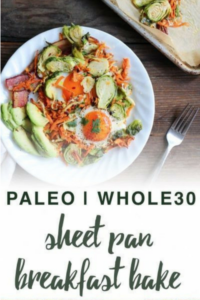 image of paleo sheet pan breakfast bake