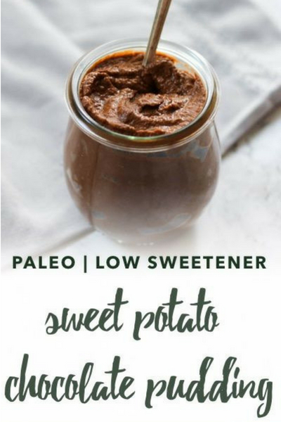 image of paleo sweet potato chocolate pudding