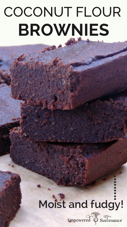 Moist and fudgy coconut flour brownies