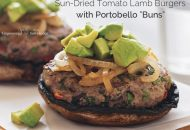 "Lamb Burgers with Portobello ""Buns"""