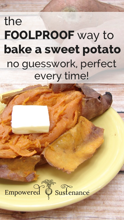 how to perfectly bake a sweet potato