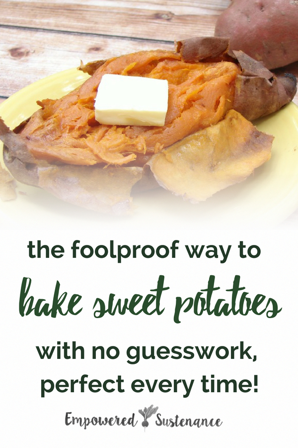 No more guesswork - learn how to perfectly bake a sweet potato with this special technique. Sweet potatoes are Paleo and Whole30 friendly making them the perfect side dish. #sweetpotatoes #healthy #glutenfree #paleodiet #paleorecipe #primal #whole30