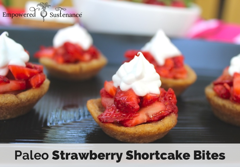 paleo strawberry shortcake bites