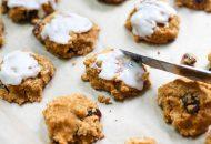 Coconut Flour Pumpkin Raisin Cookies