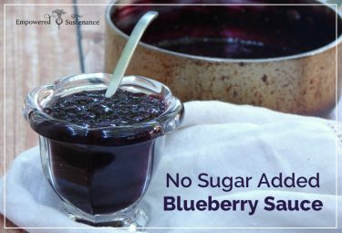 easy, no-sugar-added blueberry sauce recipe