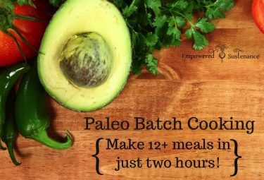 paleo batch cooking game-plan for just two hours of work