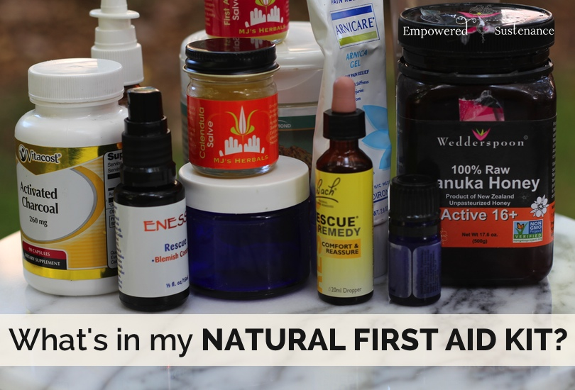 What's in a natural first aid kit?