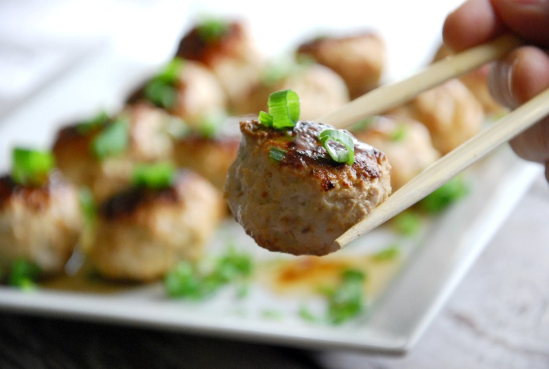 paleo asian chicken meatballs
