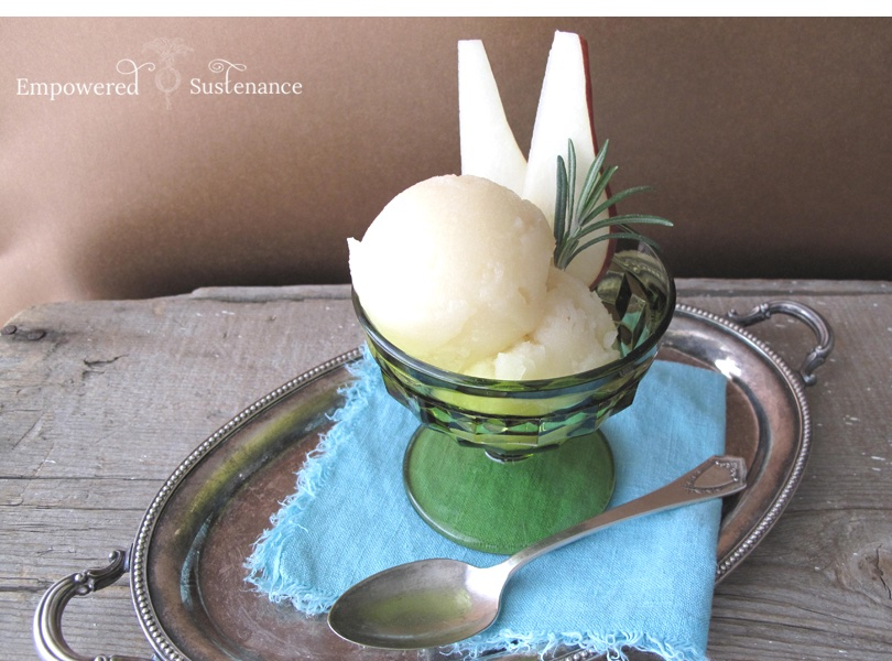 Rosemary infused pear sorbet recipe