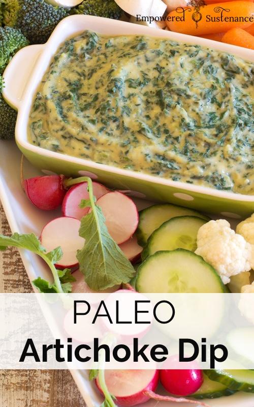 image of paleo spinach artichoke dip