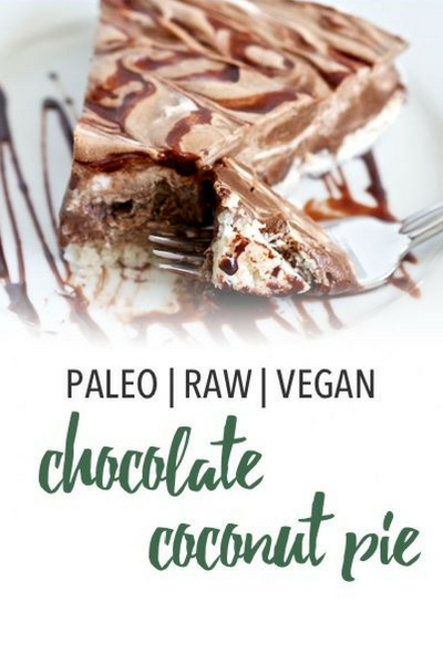 image of paleo and vegan chocolate coconut pie