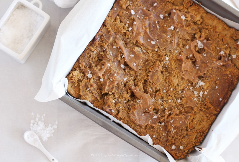 Salted caramel paleo blondies! And even autoimmune-friendly.