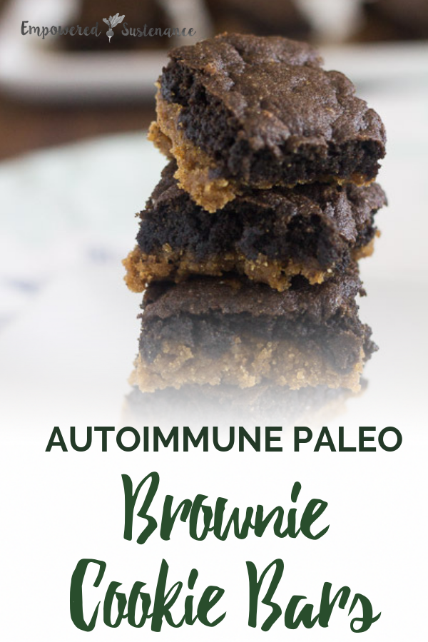 image of autoimmune paleo brownie cookie bars