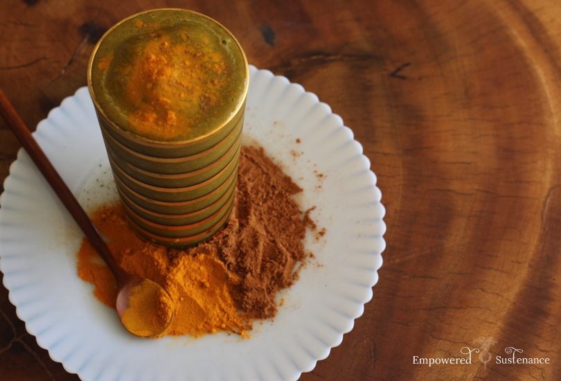 Golden Milk Smoothie with turmeric and herbs to support anti-inflammation