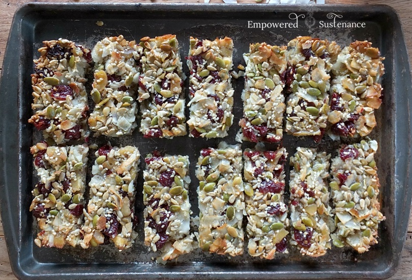 Chocolate cherry paleo granola bars recipe