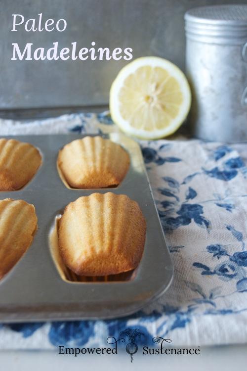 Lemon paleo madeleines recipe