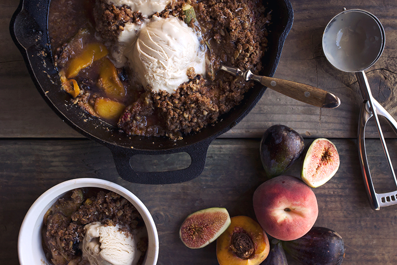 paleo peach crumble recipe (nut free)