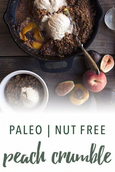 image of paleo peach crumble