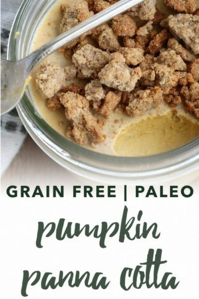 image of paleo pumpkin panna cotta