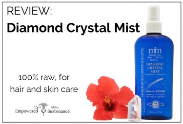 5 uses for diamond crystal mist, a 100% raw hair/skin care spray