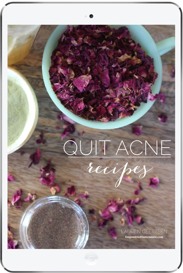quit acne recipes cover small